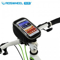 Wholesale ROSWHEEL Bike Touch Phone Case Cover Bicycle Frame Front Tube Bag for inch phone bag I9500 S4 S3 I9300 iphone5