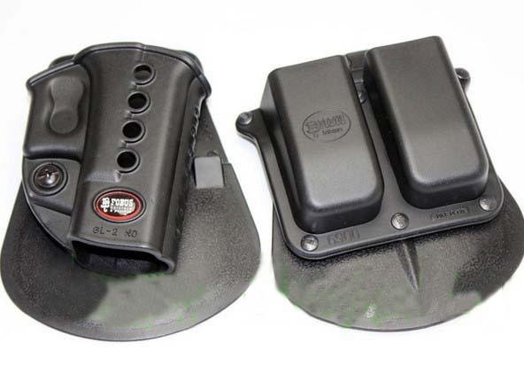 Buy Fobus Evolution Holster RH Paddle GL-2 ND Glock 17/19/22/23/27/31/32/34/35 6900RP Double Mag Pouch 9& 40 H&K 9&40