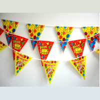Wholesale 20pcs PE happy birthday party banner Birthday party decoration Party favors Party prop M