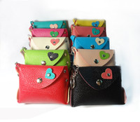 Wholesale COIN PURSE LEATHER CHANGE WALLET SMALL COIN POUCH FASHION KEYCHAIN WALLET