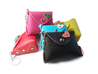 Wholesale SMALL COIN PURSE LEATHER KEY WALLET FOR WOMAN X DROP SHIPPING