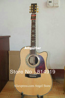 Hollow Guitar Brand New Right-handed D45 singlecut natural AAA top Solid spruce Acoustic guitar China Guitar