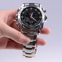 Wholesale 16G W2000 P FHD Waterproof Watch Camera Mini DVR Hidden Pinhole Camera with IR Night Vision FPS Shock Resist
