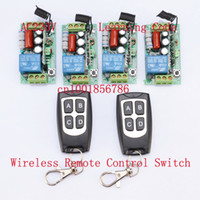 Wholesale 220V Wireless Remote Controller Wireless Power Switch System Receiver amp Transmitter CH A Light Lamp LED SMD ON OFF