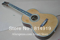 Hollow Guitar acoustic guitars freeshipping - 39 inch classic Acoustic Guitar natural Solid spruce Tree of life inlay fret board Abalone Binding Body