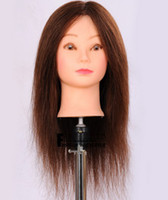 Wholesale human hair salon school hairdressing training PVC plastic mannequin model head with wig stand periwig holder