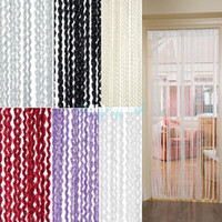 Wholesale Spiral Insect String Door Curtain Room Window Blinds Tassel Fly Screen Divider