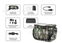 Wholesale 10pcs luggage Bag Traval Bag with Solar Panel mAh Back up Battery great bag for fishing