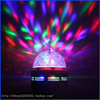 Wholesale Brand new Crystal Magic Ball Effect Stage Lights Led E27 W RGB Rotating Lamp For Party Disco DJ Bar