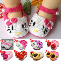 Wholesale 2013 flower girl crochet shoes Toddler Shoes Handmade infant Shoes baby First walker shoes colors