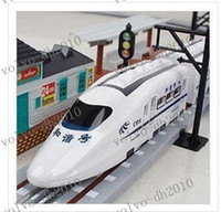 Wholesale LLFA2067 Hot Speed CRH Train Electric trains electric toy train train track RC Trains free shopping