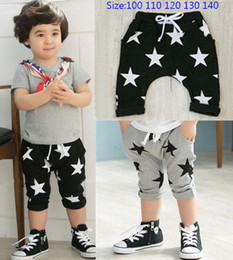 2016 Summer Kids Children Shorts Boys Star Printed Shorts Harem Pants Kids Clothing Size 100-140 Free Shipping