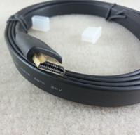 HDMI vers HDMI Câble v1.4 Câble audio / vidéo Câble HDMI 1.8M Version 1.4 Câble audio / vidéo numérique Gold 1080P 3D LCD HDTV noir