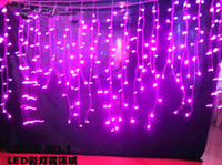 Wholesale Curtain Wedding party Icicle Twinkle lights M Christmas lights home garden lamps outdoor led Fairy lighting