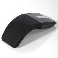 Wholesale 2 GHz Wireless Optical Mouse Foldable Flat Arc Touch Scroll Mouse with USB Adaptor for Computer Laptop PC