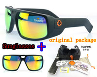 Wholesale Spy Optic Touring Sunglasses Happy Lens Reflective sunglasses change color SPY Sunglasses AAAA quality with original package Freeshipping