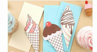 Wholesale New cute ice cream series gift card greeting card FreeShipping sets