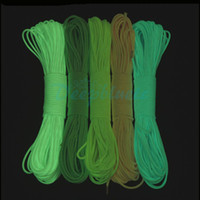 Wholesale 9 Strand Luminous Glow in the Dark Paracord Parachute Cord FT