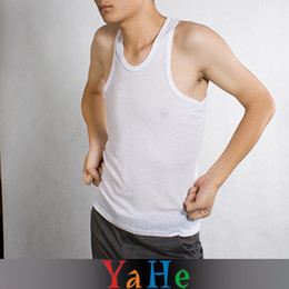 Wholesale Mens Tank Tops Cheap Vest Fashion Style Summer Sleeveless Vest Cotton for Men YAHE Brand MC3003D