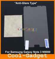Wholesale Anti Glare Frosted Screen Protector Film Guard Protection Shield for Samsung Galaxy Note Neo Note3 Note4 No Retail Pack MSP729