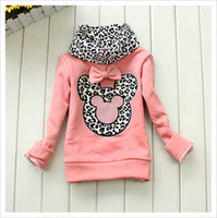 Spring / Autumn baby undershirts - Autumn Winter Children Base Shirt Thicken Fleece Choker Cartoon Leopard Girls Sweatshirt Top T Shirt Baby Kids Undershirt QS559
