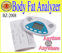 Wholesale High quality Digital Body Fat Analyzer Moniter weight control loss tester health management anyime and anywhere