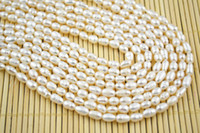 pearl jewelry making - High Quality Natural Freshwater Pearl Rice Shape mm Pearl Strand Beads inch Jewelry making beads PC