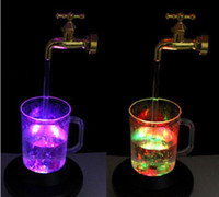 Wholesale Super Curious Creative Light Water Magic Faucet Colors Led Faucet Light Suspension With Retail Package