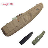 Wholesale 4 Magazine Pouches Tactical Airsoft Hunting Shooting Short Gun Rifle Cushion Padded Slip Hand Carry Strap Bag