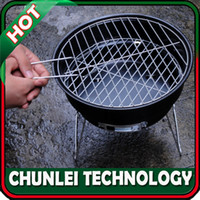 Wholesale New Travel Outdoor Living with Chrome Plated Cooking Grid Removable Legs Ash Catcher Portable BBQ Barbecue Grill