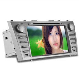 Wholesale 2007 For Toyota Camry DIN Car Radio FM AM GPS Navigation Bluetooth Support USB SD Steering Wheel Control Dual Zone RDS Car DVD H373