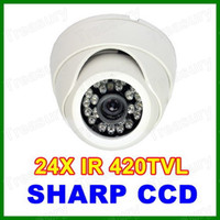 Wholesale Infrared Camera Indoor CCD mm Lens Dome Camera Wide Angle IR Led Night Vision Security Camera CCTV White