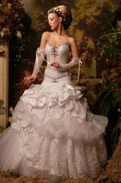 NEW arrival 2019 luxurious gorgeous a-line Sweetheart Strapless crystal Lace wedding dresses unique Bridal Gowns Arab 07
