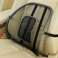 other other other Free shipping New Car Seat Chair Massage Back Lumbar Support Mesh Ventilate Cushion Pad Black