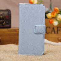 PU and PC For Apple iPhone For Christmas Litchi Grain Wallet PU Leather Case for iPhone 5C 7 Colors PC Back Shell with Card Holder & Support Stand HKpost 10pcs