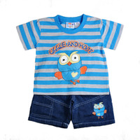 Boy baby pirate shirt - Ready to Ship Baby Boy Giggle Hoot The Pirate Striped T Shirt Tees Top amp Shorts Piece Suit Sets Cartoon Boys Summer Outfit Set