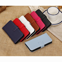 PU and PC For Apple iPhone For Christmas Litchi Grain Wallet PU Leather Phone Case for iPhone 5C 7 Colors PC Back Shell with Card Holder & Support Stand free DHL 300pcs