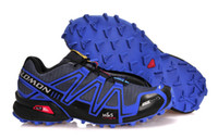 Wholesale top quality new men s salomon sneakers outdoor trail running shoes training sports shoes size