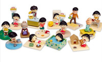 Wholesale Anime Cartoon Chibi Maruko Chan Sakura Momoko Happy Family Mini PVC Action Figure Toys Dolls