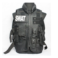 Unisex american tactical apparel - Brand New Athletic Sports Outdoor Apparel Jackets American SWAT Tactical Vest Nylon Cotton Black