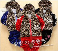 Wholesale Baby Kids Tracksuit Fashion Leopard Grain Good Quality Velvet Hoodies Pants Casual Boys Girls Sport Set Children Suit QS565