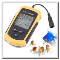 Wholesale High quality m Portable Sonar Sensor Fish Finder Fishfinder Alarm Beam Transducer Dropshipping