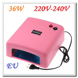 Wholesale High quality W V Nail Art UV Lamp Gel Curing Tube Light Dryer Pink Color Dropshipping
