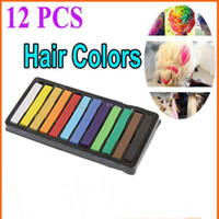 Wholesale Bran New Hot Sale set colors Fashion Non toxic Temporary Color Hair Chalk bug Dye Pastel Chalk set