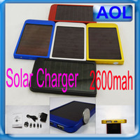 Wholesale 2600MAH Solar Battery Panel Charger portable power bank power mobile for Cell Mobile Phone MP3