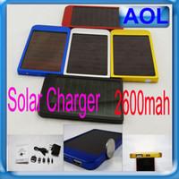 venda por atacado solar cell-Carregador Painel 2600MAH bateria solar móvel de alimentação de energia do banco portátil para celular móvel MP3 Telefone