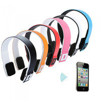 Wholesale 2 G Wireless Bluetooth V3 EDR Headset Headphone with Mic for iPhone iPad Smartphone Tablet PC