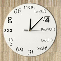 Wholesale Retail Novelty Wall Clock Personality Adornment Individuality Ornament Home High Quality Puzzle Mathematics Clocks New Design