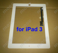 Wholesale Brand New Black White Screen Panel Digitizer for iPad3 Tablet PC