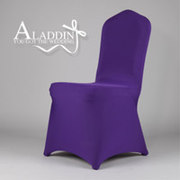 Wholesale 9PCS Spandex Chair Cover Lycra For Wedding Banquet Party Hotel Decorations High Quality Supplies